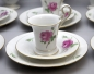 Mobile Preview: Meissen Kaffeeservice Schwanenhals Rote Rose.