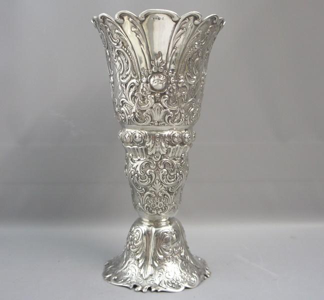 Große Vase Silber : art of antik wundersch ne gro e blumen vase silber 800 ~ Buech-reservation.com Haus und Dekorationen