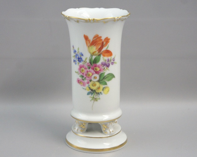 Art Of Antik Meissen Vase Auf Tatzen Blumenbukett 1 Wahl