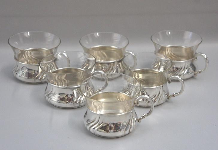 Teetassen Glas of antik nr 2 johann beck 835er silber 6 teetassen mit glas